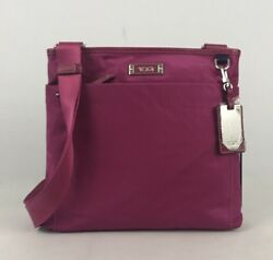Tumi Voyageur Capri Crossbody Shoulder Travel Bag Raspberry Pink 481785RSB