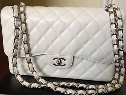 Chanel classic flap bag - White - Mint
