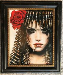 Brian Viveros And039cleopatraand039 Wood Print Framed Signed Edition 30