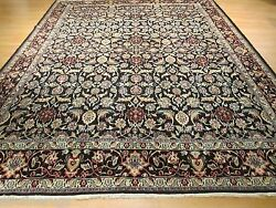 10x13 Estate Circa 1950 Amazing Allover-pattern Handmade-knotted Wool Rug 582677