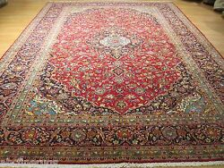 Estate 10x13 Ca 1940 Gorgeous Stunning Handmade-knotted Wool Rug 582603