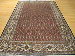 Estate Circa 1960 7x10 Intricate Allover-pattern Hand-knotted Wool Rug 582005