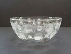 Lalique Tokyo Clear And Frosted Crystal Art Deco Ashtray