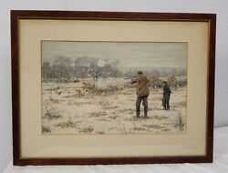 Antique Fine A.b. Frost Chromolithograph Print Kennedy Galleries Hare Hunting