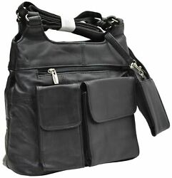 Black Womens Leather Purse Handbag With Cell Phone Clutch Ladies Shoulder Bag $19.99
