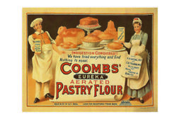 Coombs Eureka Aerated Pastry Flour Vintage Style Metal Wall Plaque Sign