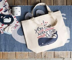 """Now Designs Muti-Purpose Tote Bag Whale You Me And The Sea 18"""" X 15"""" Inches $14.96"""