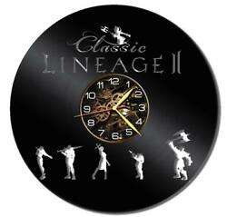 Lineage-II Watch Vinyl Record Wall Clock Living Room Home Decor Art Gift Idea