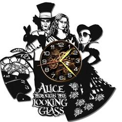 Alice Land-2 Watch Vinyl Record Wall Clock Living Room Home Decor Art Gift Idea
