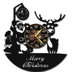 Christmas Watch Vinyl Record Wall Clock Living Room Home Decor Art Gift Idea New