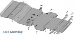 Ford Mustang Shield Engine Cover Metal Protection Guard Skid Plate Splash New