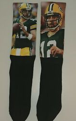 Nfl Green Bay Packers Aaron Rodgers Qb Photo Socks Free Shipping