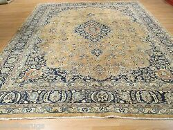 Estate Circa 1930 10x12 Light Color Palette Handmade-knotted Wool Rug 582647