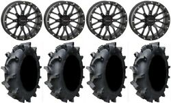 System 3 St-3 Blk 18 Wheels 35 Interforce 628 Tires Can-am Renegade Outlander