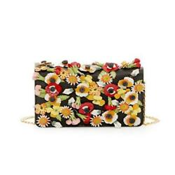 New Prada Saffiano Garden Floral Applique Designer Crossbody Bag 1BP006 F0002 $1,198.00