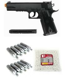 Wg Wingun 304 1911 Tactical Co2 Non-blowback Airsoft Pistol Package Deal