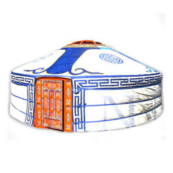 Blue Canvas Yurt Cover Water Resistant