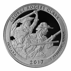 2017 S Parks Quarter George Rogers Clark Gem Deep Cameo Proof 90 Silver Us Coin