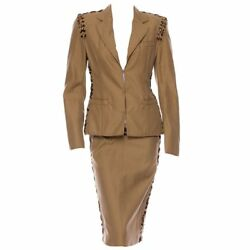Vintage S/s 2002 Tom Ford For Yves Saint Laurent Safari Suit New With Tags
