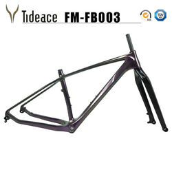 26er 16/18/20and039and039 Carbon Fat Bicycle Frames Bsa Carbon Snow Bike Frame Glossy