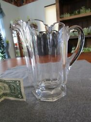 Scarce Duncan And Miller Clear Duncan 72 Pattern Water Pitcher