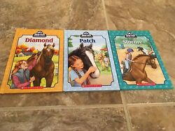 Lot of 3 Breyer Stablemates Horse Books Diamond Patch Stormy