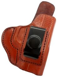 TAGUA IWB AIWB RH Brown Leather Concealment Holster for KEL-TEC P3AT 380