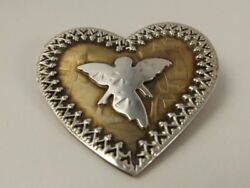 Rare Vintage Margie Lombard Story Pin Sterling Silver/jewelers Bronze See Detail
