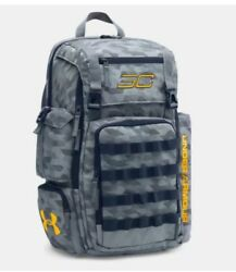 NWT $80 Under Armour Men's SC3 Stealth GrayNavy Backpack