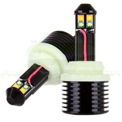 Luminous 3157 White Amber Dual Color Switchback LED Turn Signal Light Bulbs