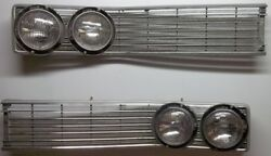 1968 Chrysler Newport L-h And R-h Grille Inserts P/n's 96375 2786278 And 2786279