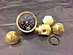 44 Brass Rocker Box Shaft End Bolt Andoil Pressure Gauge Ironhead Shovelhead Black