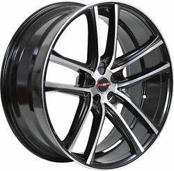 4 GWG Wheels 20 inch Black Machined ZERO Rims fits CHEVY IMPALA 2000 - 2013