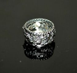 Miniature Sterling Silver Wine Coaster Dollhouse 112 Artist Made Obadiah Fisher