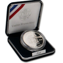 2001 Capitol Visitor Center Commemorative Silver Dollar Proof Us Coin - Ogp