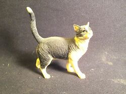 Vintage Black and White Cat Figure