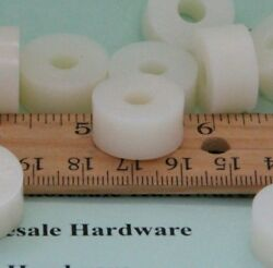 Nylon Spacer 3/4od 1/4id 3/8 Long Natural White Pick Your Quantity