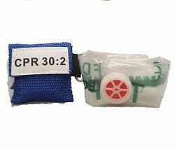100 Blue Cpr Facial Shield Mask In Pocket Keychain Imprinted Cpr 302