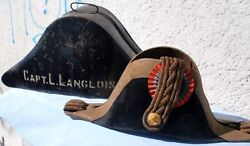Chilean Navy Coup Dand039etat 1925 Era Commander In Chief Luis Langlois Bicorn And Box