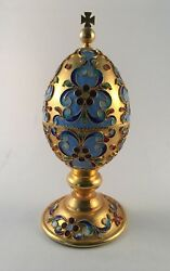 Gold Egg With Cloisonne Design From Bulgaria Gift
