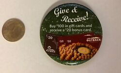 Outback Steakhouse Give And Receive Gift Card Promo Pin
