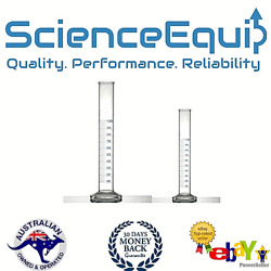 Glass Measuring Cylinders Tall Form With Spout And Graduations