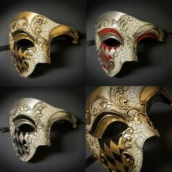 Men#x27;s Masquerade Mask Phantom Masquerade Masks for Men Venetian Mask M2635