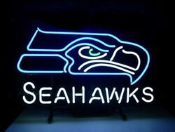 New Seattle Seahawks Beer Man Cave Neon Light Sign 17x14