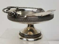 Antique Vintage Tufts Boston Silverplate Tazza Candy Dish Silverplate