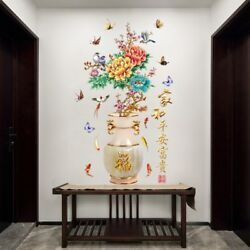 Chinese Style Art Wall Stickers Home Decor Living Room Entrance Door Decor Decal