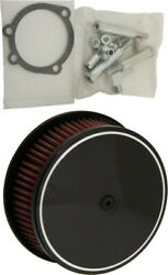 Harddrive Custom Round Air Cleaners 5 7/8 Black Classic Smooth - 120302