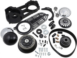 Belt Drives 2in. Belt Drive Kit With Changeable Domes Black - Evo-14b-2b