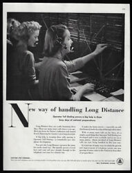 1951 Vintage Print Ad 50's BELL TELEPHONE SYSTEM switchboard operator image