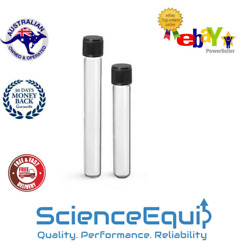 Threaded Culture Tubes Round Bottom Ptfe Liner With Pp Screw Caps 60ml- 10pcs/pk